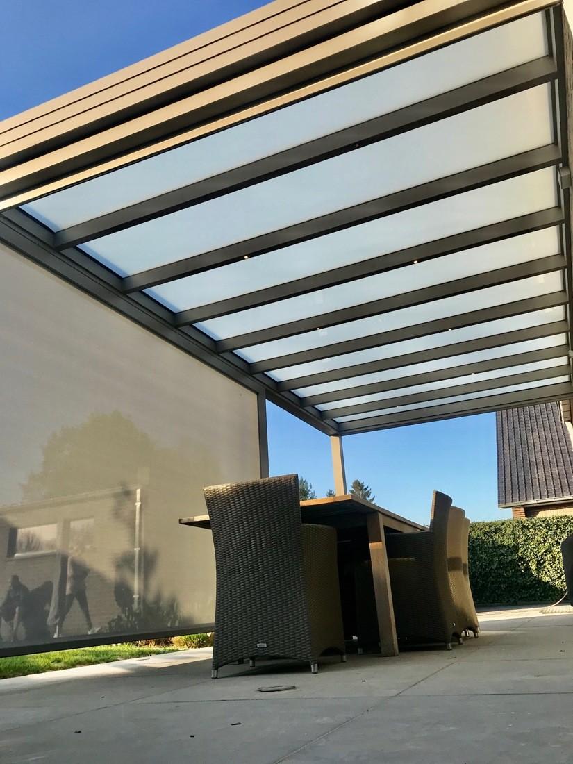 Aluminium pergola met plat dak