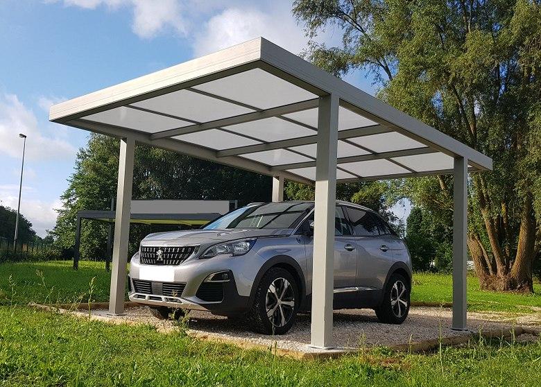 Aluminium carport met plat dak en moderne look