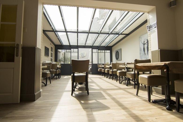 Uitbreiding Horeca zaal met aluminium veranda